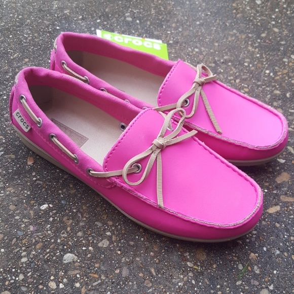 4dba7891f7e96c Crocs Wrap Colorlite Loafers Women s 8 Pink New